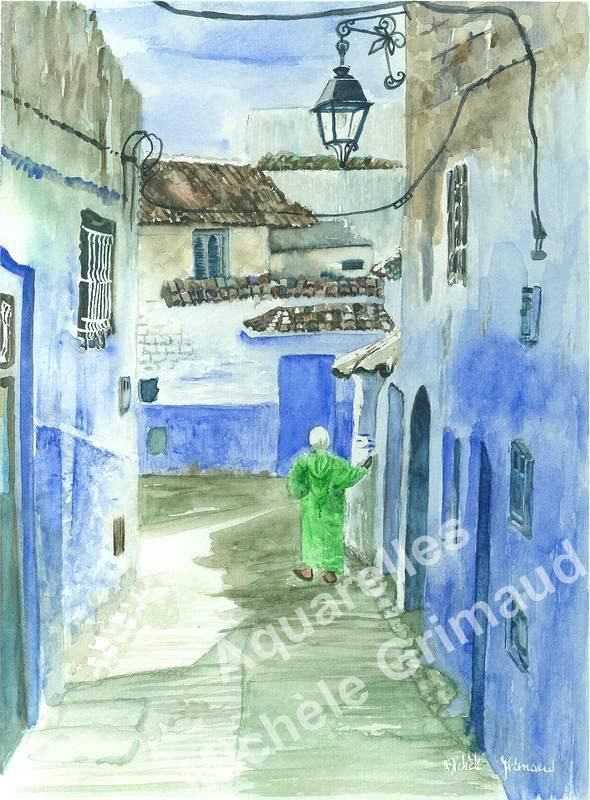 Maisons bleues