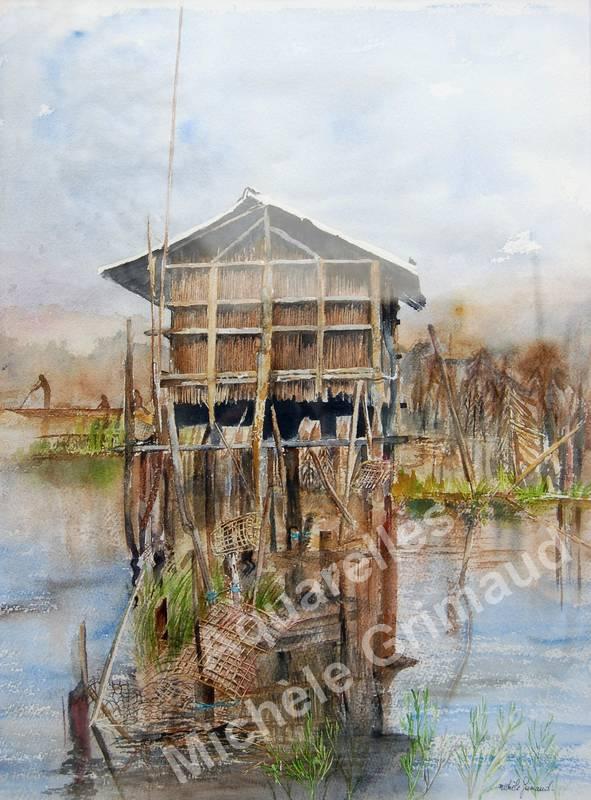 benin, cabane de pêcheur